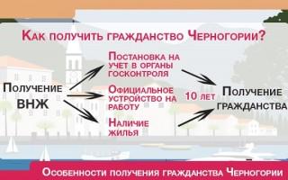 Как получить гражданство Черногории